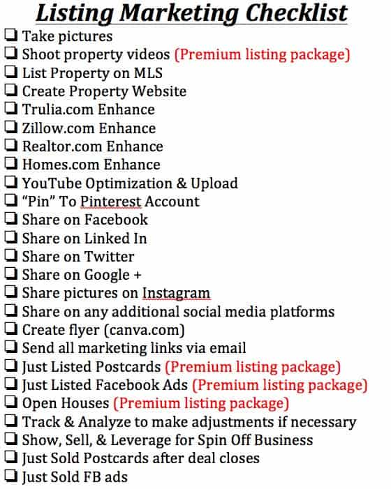 FInal Listing checklist.docx