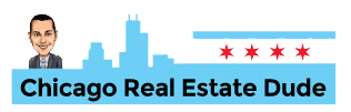chicago real estate dude logo white